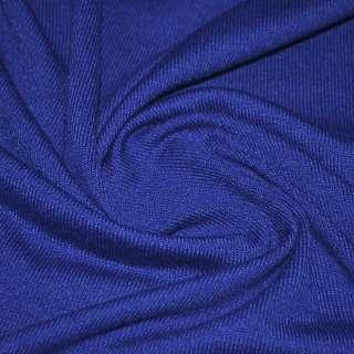 Трикотаж акриловый синий ш.170