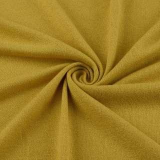 Трикотаж акриловый желто горчичный (оттенок) ш.170