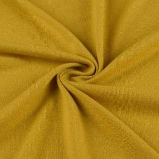 Трикотаж акриловый желто горчичный ш.170