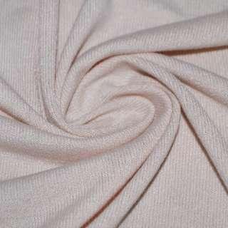 Трикотаж акриловый молочно розовый ш.170