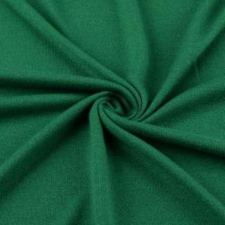 Трикотаж акриловый зеленый ш.170
