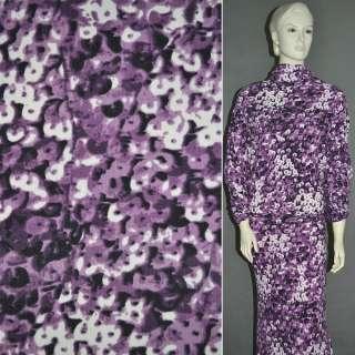 Трикотаж фиолетовый в пятна,ш.150