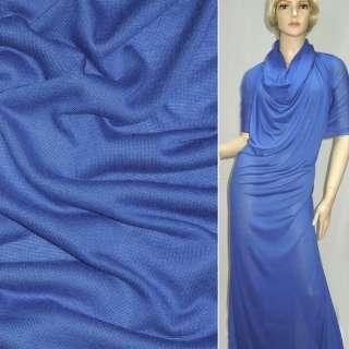 Трикотаж облегченный синий ш.160