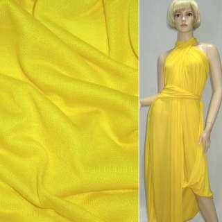 Трикотаж облегченный желтый ш.160