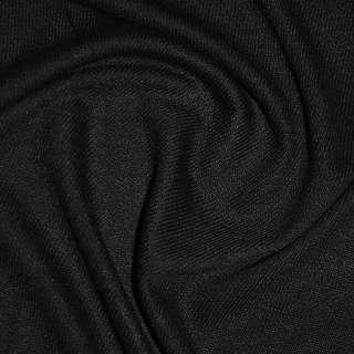 Трикотаж черный акриловый ш.170