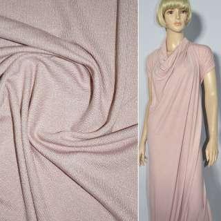 Трикотаж серо розовый акриловый ш.170