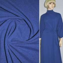Трикотаж синій електрик з дрібними штрихами ш.170