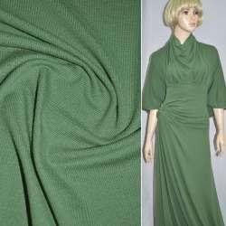 Трикотаж зелений темний з дрібними штрихами ш.170