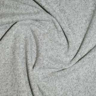 Трикотаж молочно-сірий з дрібними штрихами ш.170