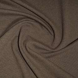 Трикотаж коричневий з дрібними штрихами ш.170