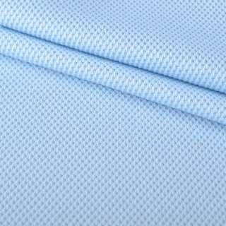 Трикотаж полотно голубое Лакоста