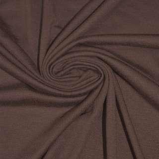 Трикотаж вискозный с эластаном коричневый ш.170