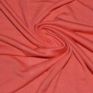 Віскоза з еластаном, трикотаж оранжево-червоний ш.170