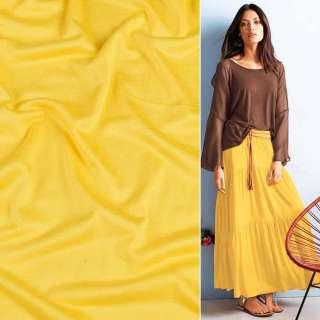 Віскоза з еластаном, трикотаж жовтий ш.170