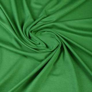 Віскоза з еластаном, трикотаж зелений ш.170