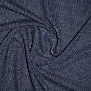 Трикотаж вискозный синий темный ш.170