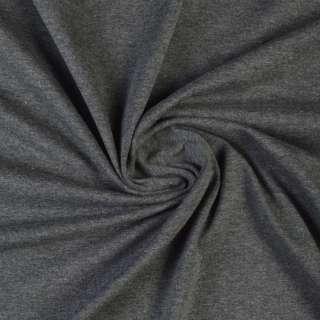 Трикотаж вискозный с эластаном серый темный с белым ш.170