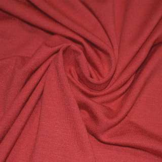Трикотаж вискозный с эластаном оранжево-красный ш.170