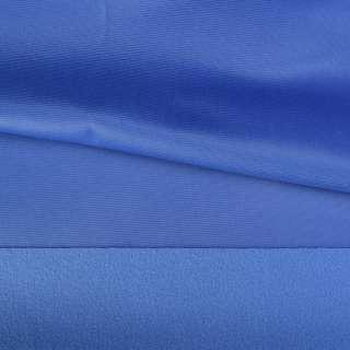 Трикотаж спорт с начесом голубой темный ш.150