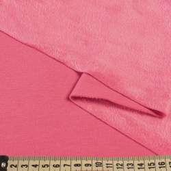 Трикотаж на велсофті рожевий яскравий, ш.185