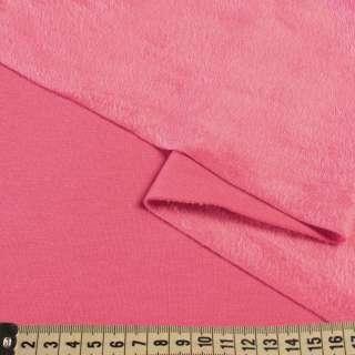 Трикотаж на велсофте розовый яркий, ш.185