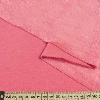 Трикотаж на велсофте розовый, ш.180