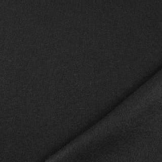 Трикотаж на флісі чорний, ш.160