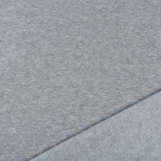 Трикотаж на флісі блідо-сірий ш.160