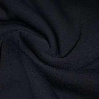 Трикотаж синий темный на флисе ш.160
