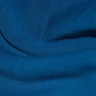 Трикотаж синий на флисе ш.160