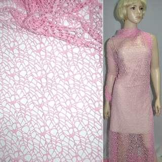 Сетка кружево розовая ш.160
