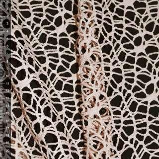 Сетка кружево персиковая ш.160