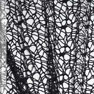 Сетка кружево черная ш.160