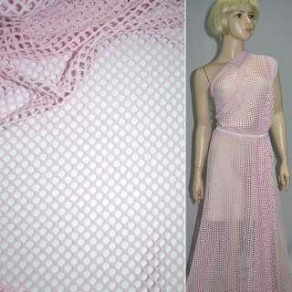 Сітка трикотажна рожева ш.150