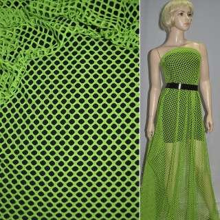 Сітка трикотажна яскраво-зелена ш.150