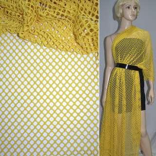 Сітка трикотажна жовта ш.150