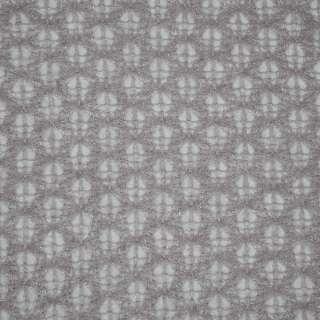 Трикотаж ажурный светло серый ш.150
