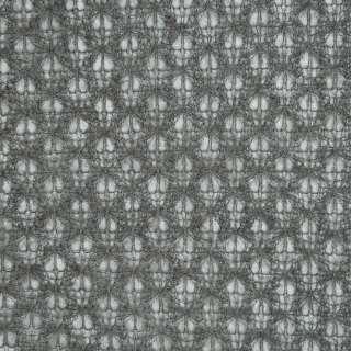Трикотаж ажурный серый ш.150