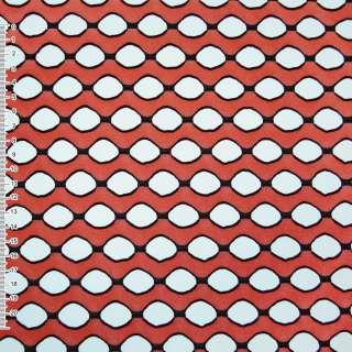 Трикотаж кораловий хвилі з овальними дірочками ш.160