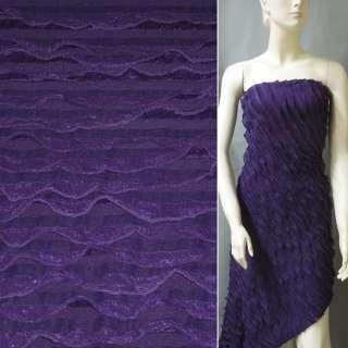 Трикотаж фіолетовий з рюшами ш.150