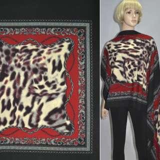 Трикотаж чорно-червоний хустки ш.150