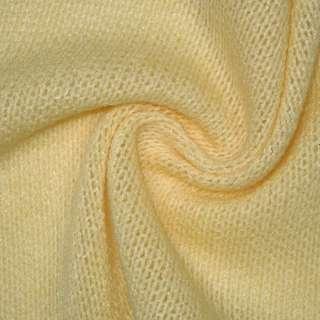 Трикотаж в'язаний блідо жовтий шерст. ш.170