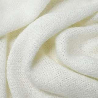 Трикотаж вязаный белый ш.180