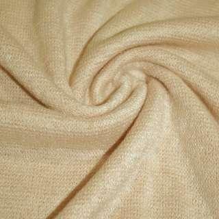 Трикотаж вязаный пшеничный (оттенок розовый) ш.175