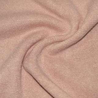 Трикотаж в'язаний блідо рожевий ш.170