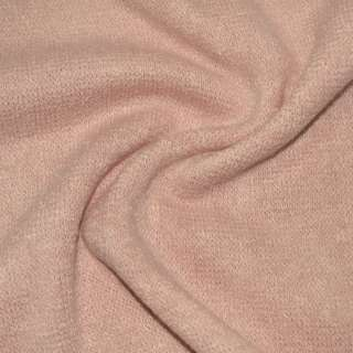 Трикотаж вязаный бледно-розовый ш.170