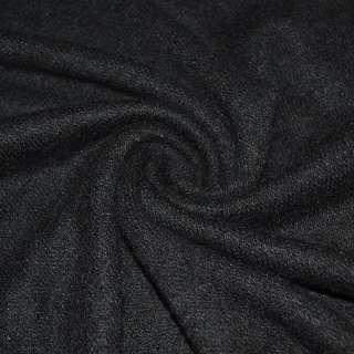 Трикотаж вязаный черный ш.170