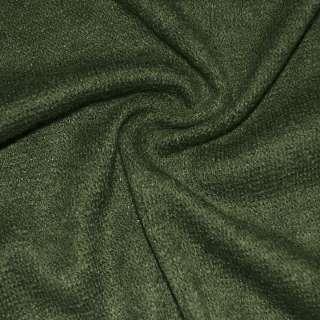 Трикотаж вязаный темно зеленый ш.170