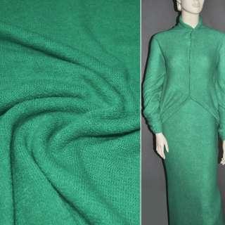 Трикотаж в'язаний зелено-бірюзовий ш.180