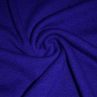 Трикотаж вовняний синій (електрик) ш.170